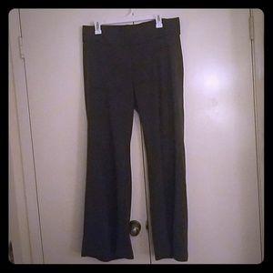 Flattering Liz Lange maternity flare gray pants 14